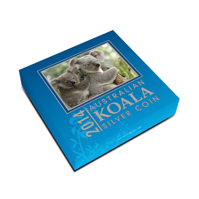 2014 1 Kilo Proof Silver Koala Box