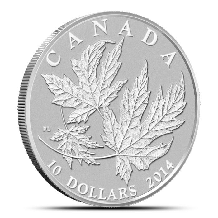 2014 1/2 oz $10 Silver Maple Leaf