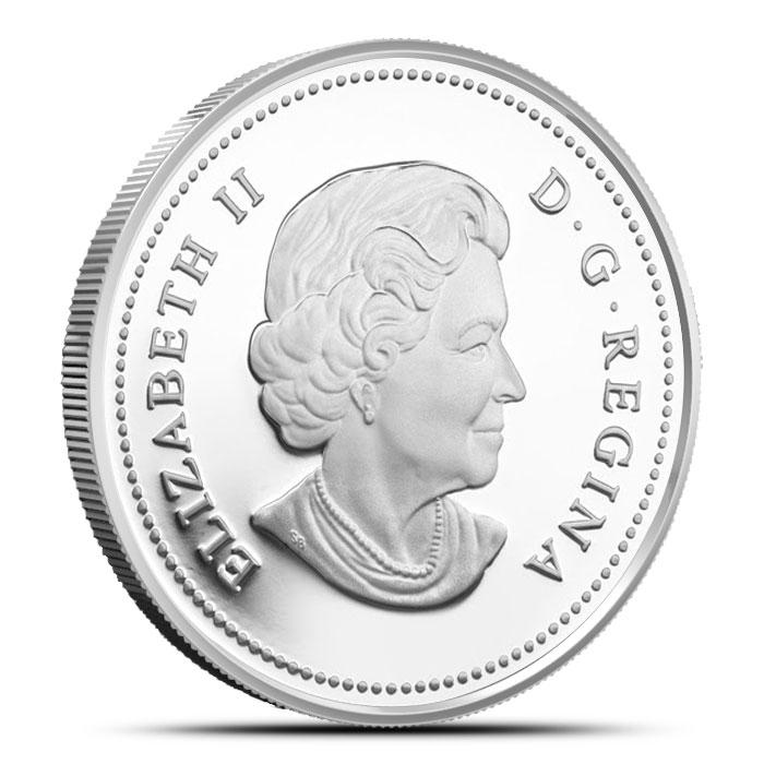 2014 1/2 oz $10 Silver Maple Leaf Reverse