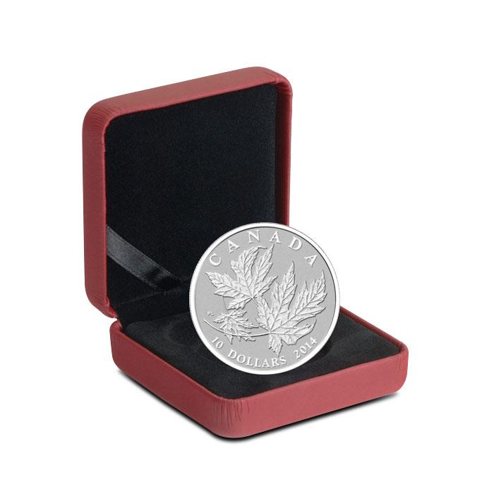 2014 1/2 oz $10 Silver Maple Leaf Clamshell