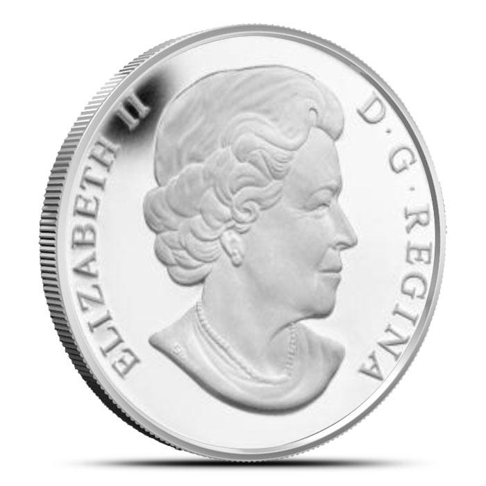 2014 1/2 oz $10 Silver Moose | O Canada Series Reverse