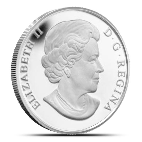 2014 1/2 oz Silver Down By The Old Maple Tree | O Canada Series Reverse