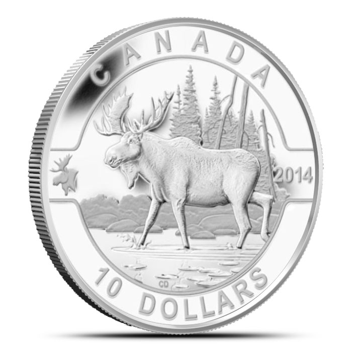2014 1/2 oz $10 Silver Moose | O Canada Series