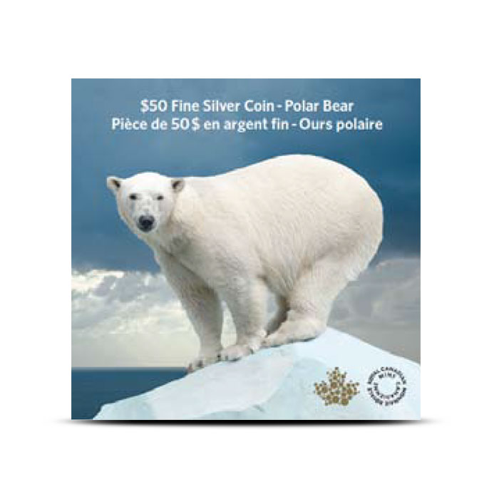 2014 1/2 oz $50 Silver Iconic Polar Bear Package
