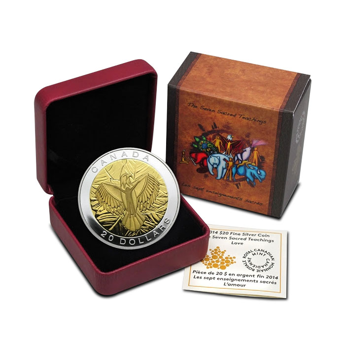 2014 Silver $20 Love Coin | The Seven Sacred Teachings Box