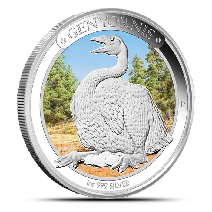 2014 1 oz Proof Silver Australian Megafauna | Genyornis