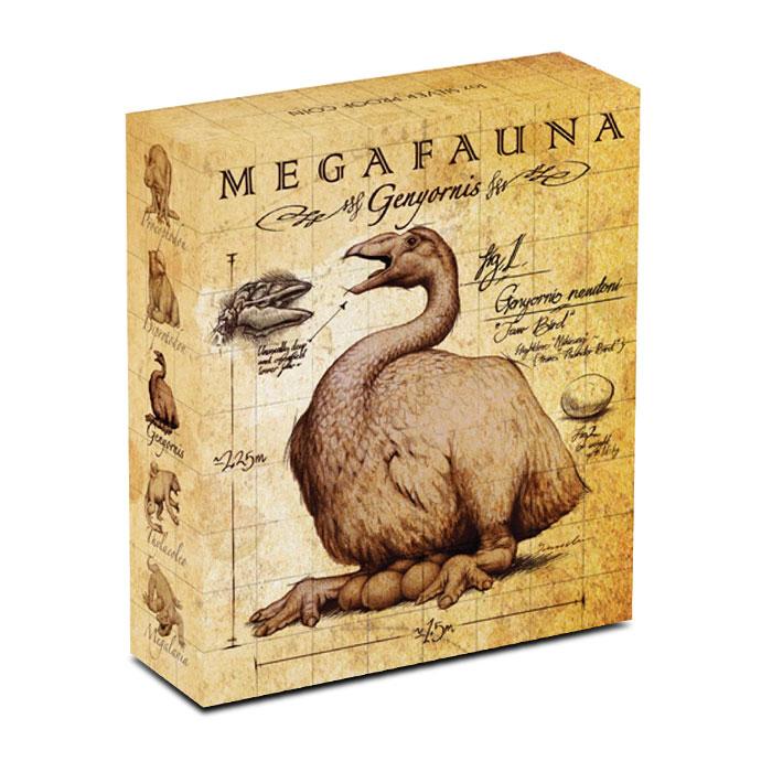 2014 1 oz Proof Silver Australian Megafauna | Genyornis Box