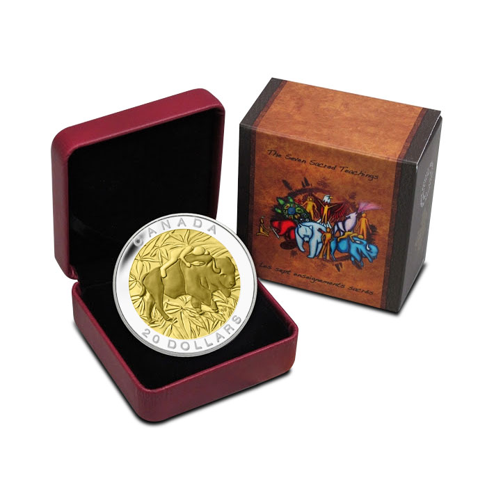 2014 Silver $20 Respect Coin | The Seven Sacred Teachings Box