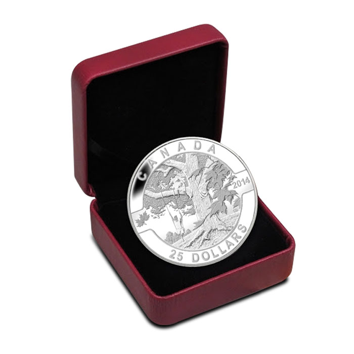 2014 1 oz Silver Under The Maple Tree | O Canada Series Clamshell