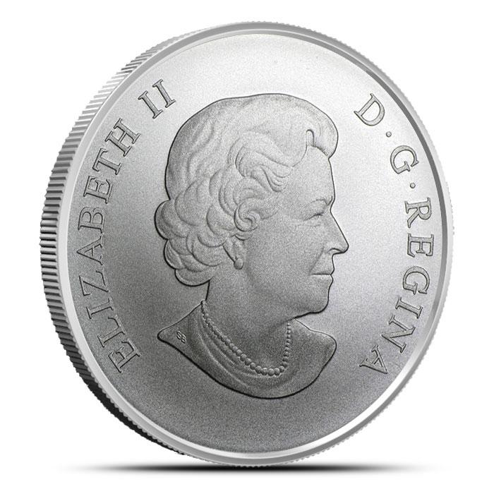 2014 1 oz Canadian Silver $100 | Rocky Mountain Bighorn Sheep Reverse