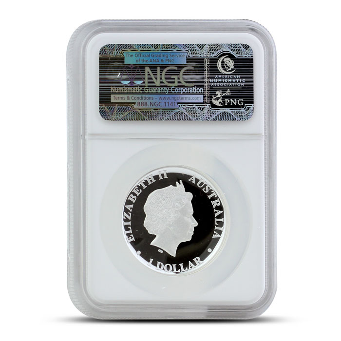 2014 1 oz Proof Silver Kangaroo | High Relief NGC PF70 Reverse