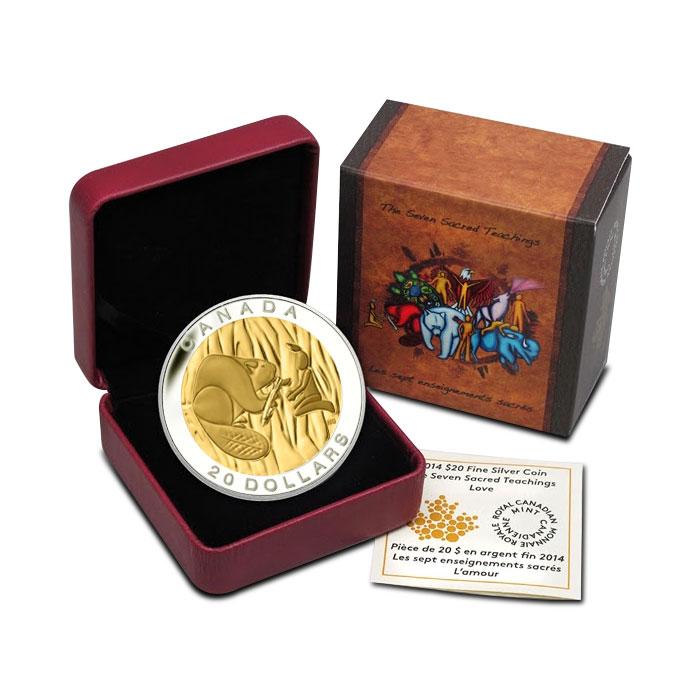 2014 Silver $20 Wisdom Coin | The Seven Sacred Teachings Box