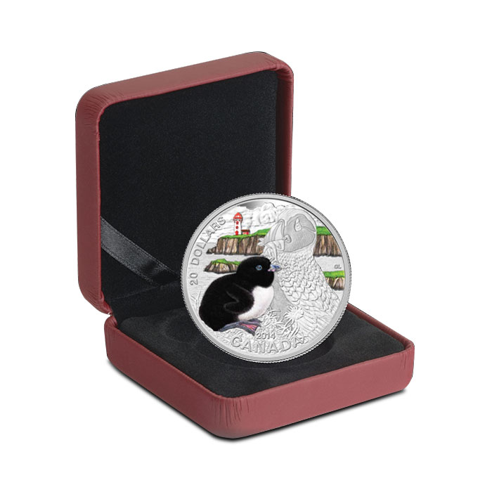 2014 Silver $20 The Atlantic Puffin | Baby Animals Box