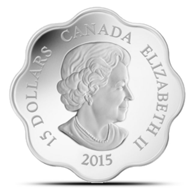 2015 Canadian Lunar Lotus Year of the Sheep Proof Silver Coin Reverse