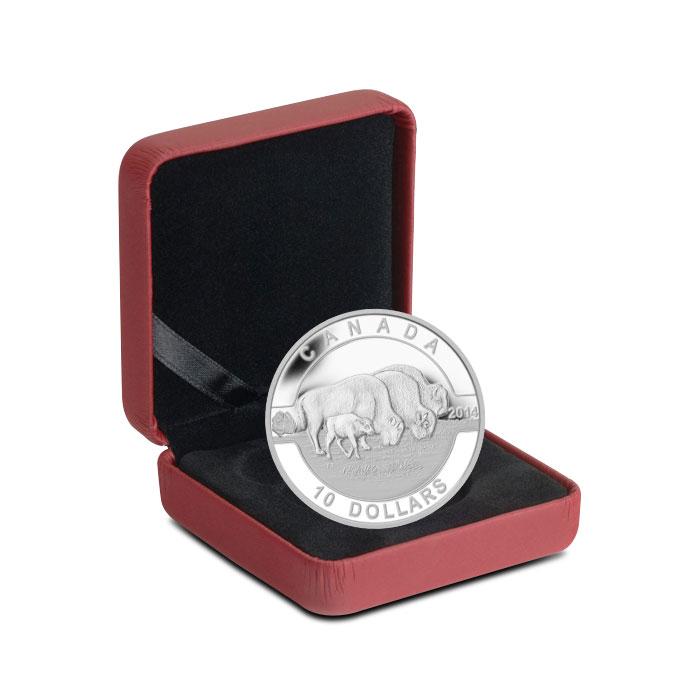 2014 1/2 oz $10 Silver Bison   O Canada Series Box
