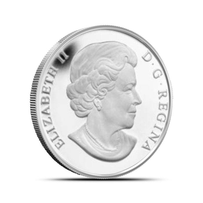 2014 1/2 oz $10 Silver Bison   O Canada Series Reverse