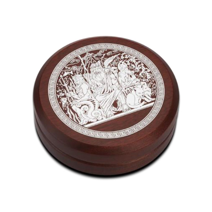 2014 2 oz Silver High Relief Gods of Olympus | Hades Wooden Box