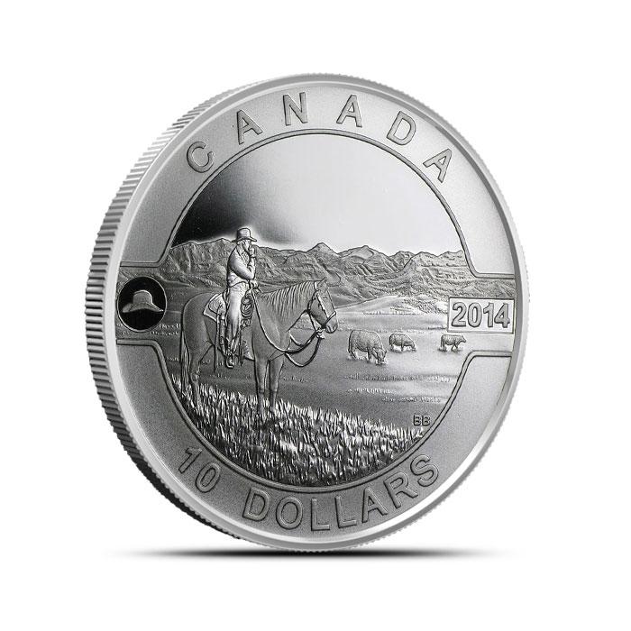 2014 1/2 oz Silver Canadian Cowboy | 2014 O Canada Series