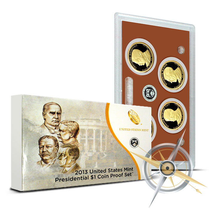 2013 Presidential Dollar US Proof Set