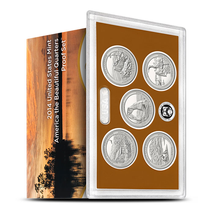 2014 America the Beautiful Quarters Only Proof Set