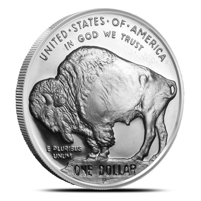 2001 P American Buffalo 2 Coin Set Commemorative Proof Silver Dollar Coin Reverse