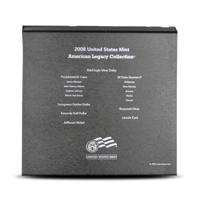 2008 American Legacy Collection | US Mint Back