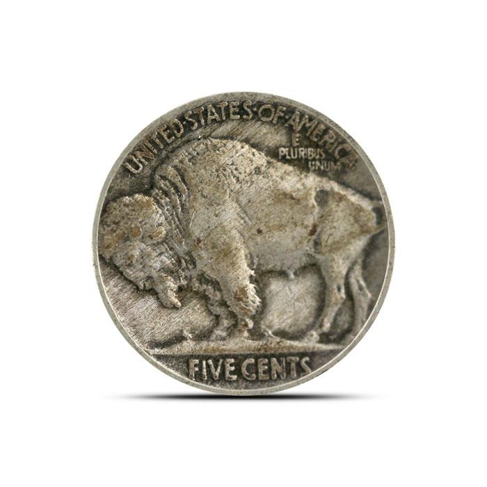 1915 P Buffalo Nickel   Circulated Reverse