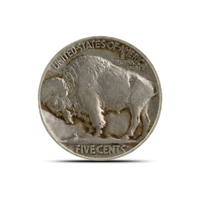 1916 P Buffalo Nickel | Circulated Reverse