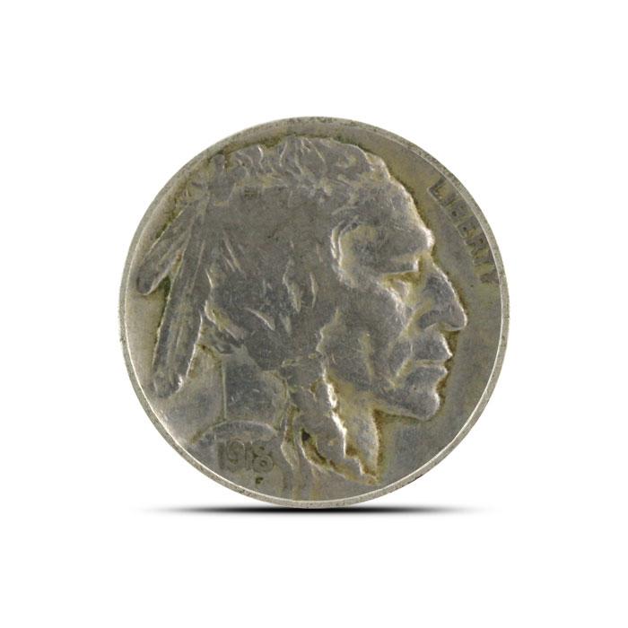 1918 P Buffalo Nickel   Circulated