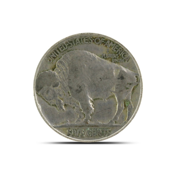 1918 P Buffalo Nickel   Circulated Reverse