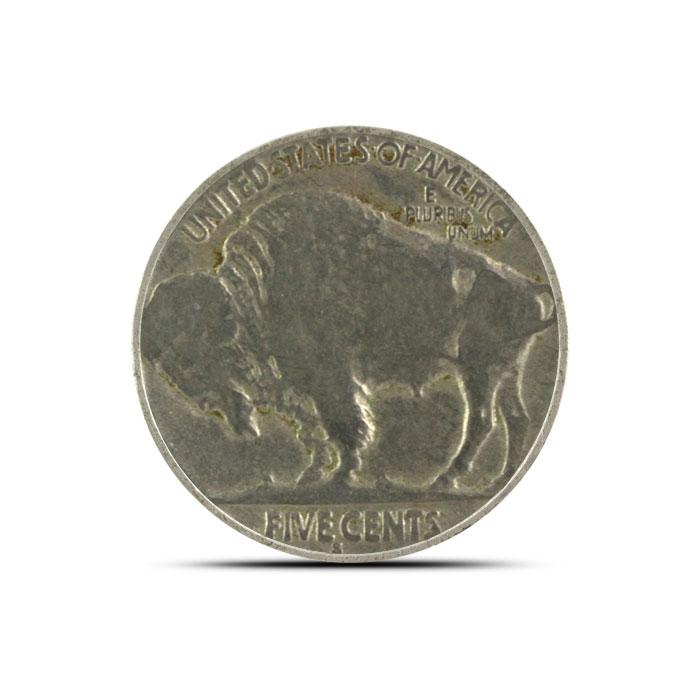 1918 S Buffalo Nickel | Circulated Reverse