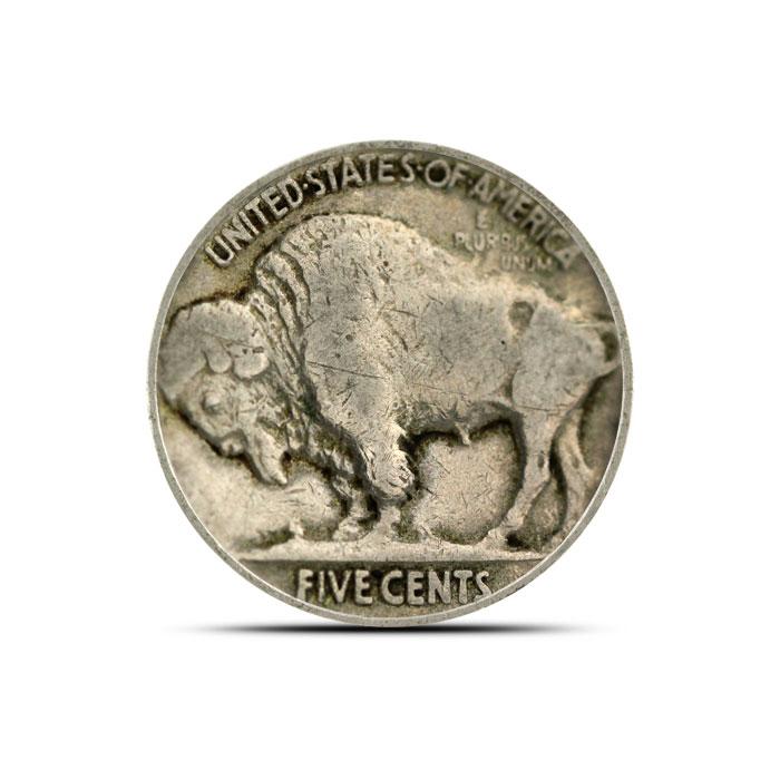 1919 P Buffalo Nickel | Circulated Reverse