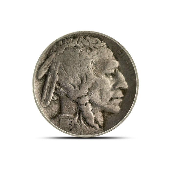 1919 S Buffalo Nickel   Circulated