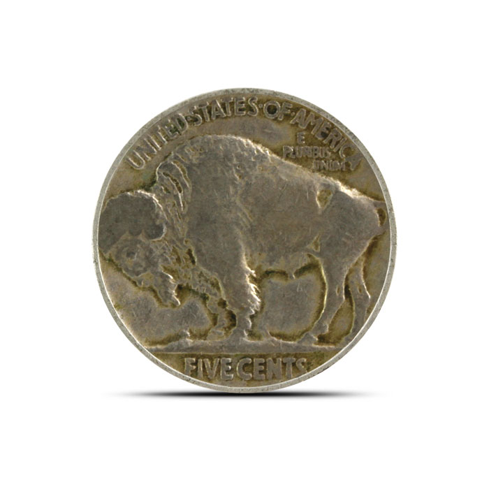 1920 P Buffalo Nickel   Circulated Reverse