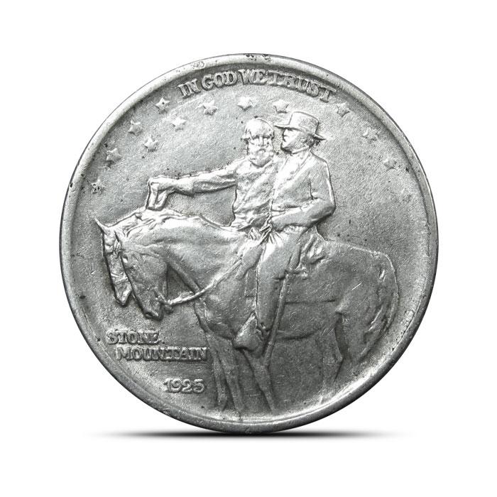 1925 Stone Mountain Silver Half Dollar | AU
