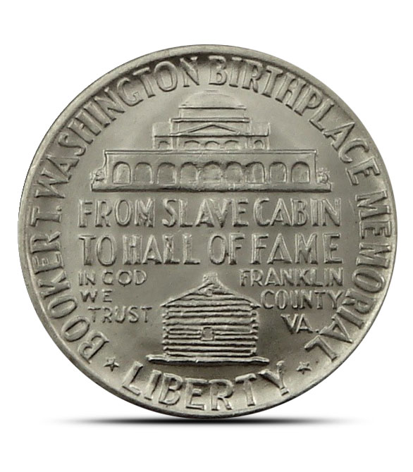 Booker T. Washington Silver Half Dollar Reverse