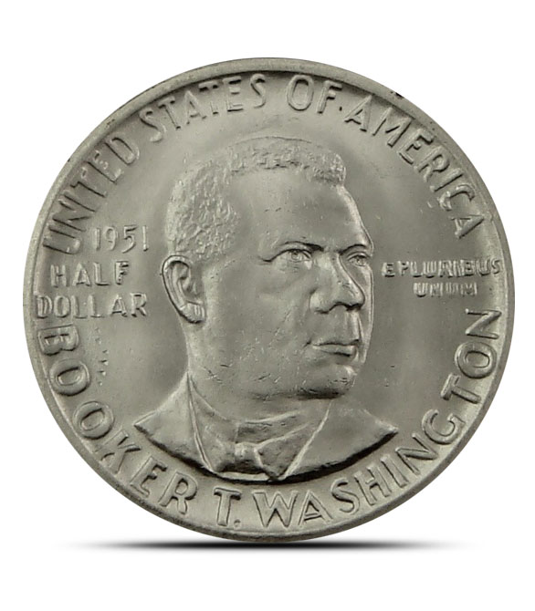 Booker T. Washington Silver Half Dollar