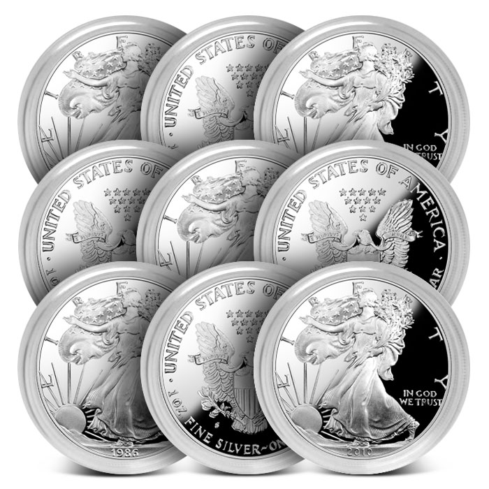 Proof Silver Eagle with Capsule Only