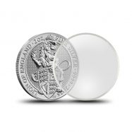 2 Direct Fit Capsule Holder /& Coin Display 40.6mm Storage Box ASE Silver Eagle