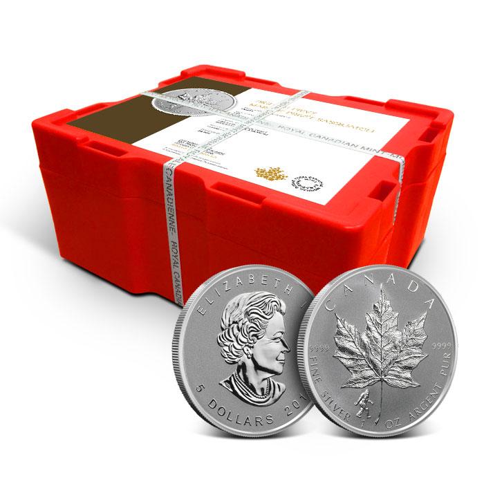 2016 1 oz Canadian Silver Maple Leaf Bigfoot Privy | Monster Box