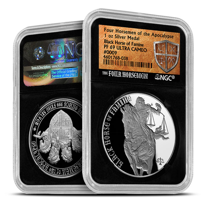 Black Horse of Famine | NGC Proof 69