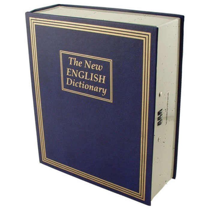 Dictionary Book Safe with Combination Lock-0