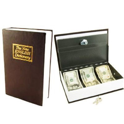 Dictionary Book Safe with Key Lock-0