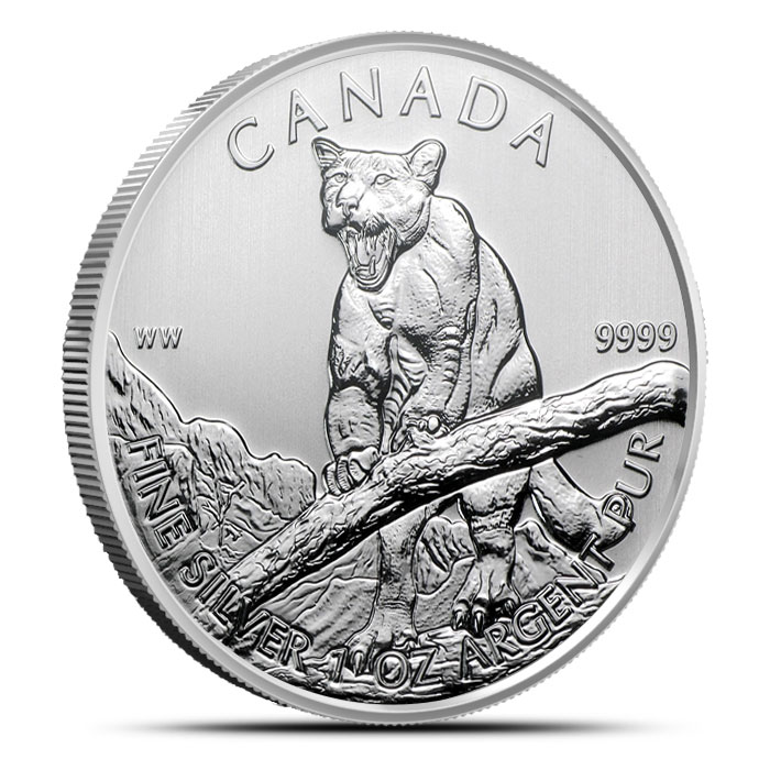 2012 1 oz Canadian Silver Cougar | NGC MS69 Obverse