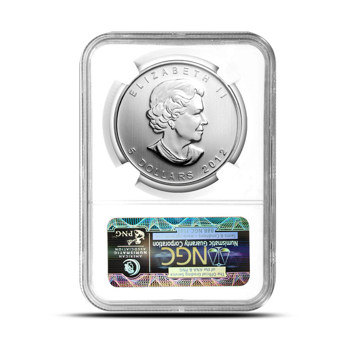 2012 1 oz Canadian Silver Cougar | NGC MS69 Reverse Case