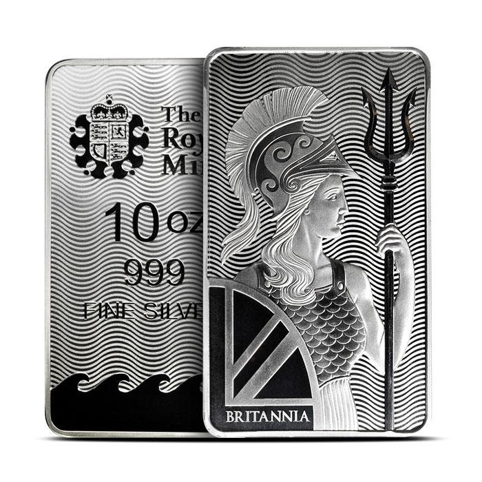 Britannia Silver Bar   10 oz