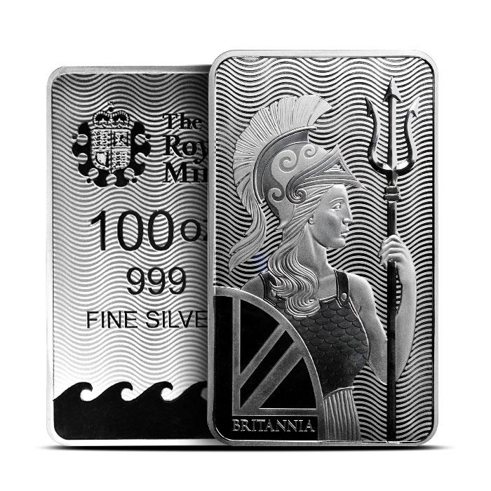 Britannia 100 oz Silver Bar