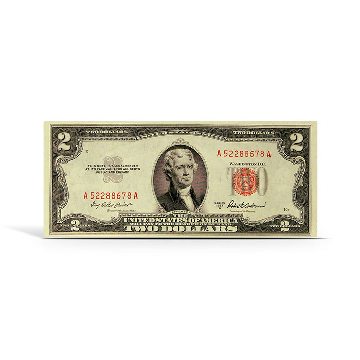 $2 Legal Tender Small Size US Note 1953/63 | Extra Fine Red Seal
