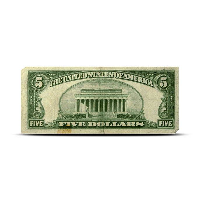 $5 Silver Certificate | Small Size Series 1953 | AG/Cull