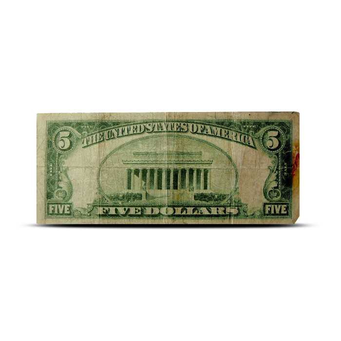 $5 Silver Certificate | Small Size Series 1934 | AG/Cull